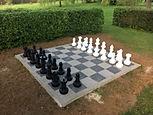 Schachfeld im Park