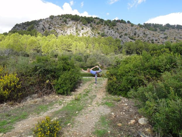 Natarajasana/Dancer.....Tramuntana Mountains Mallorca