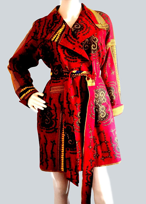African Print Women Clothing, Ankara Trench Coat