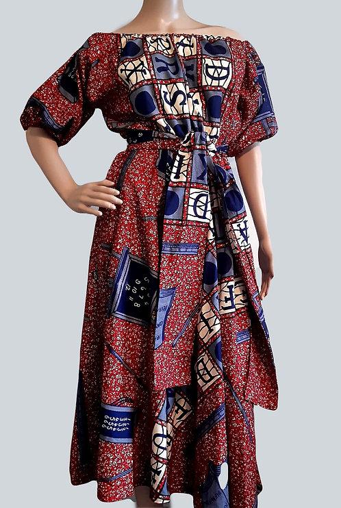 African Print Women Dress - Off Shoulder Ankara Dress