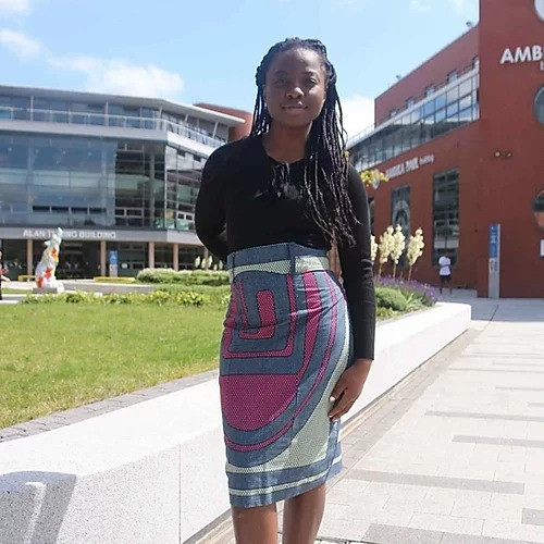 Straight, pencil skirt. African fashion by TDARE for summer 2020.