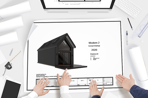 Modern 2 Concept Drawing Set + CAD