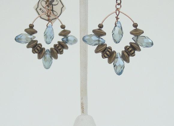 Crystal Hoops Earring