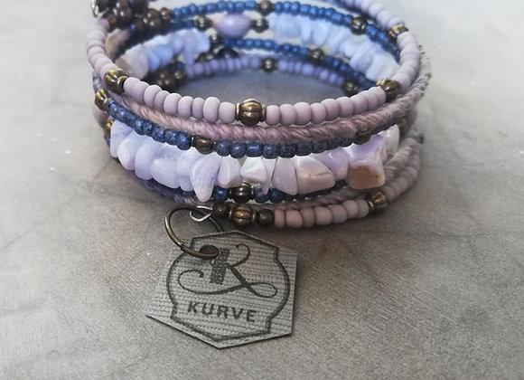 Blue Cotton Wrap Bracelet