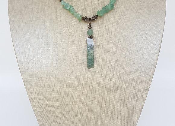 Unisex Jade + Wood Necklace