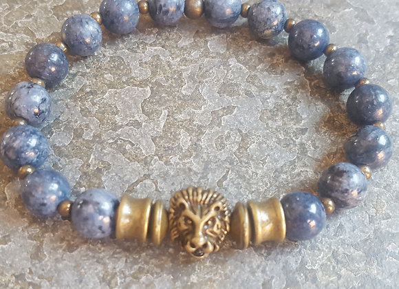 Dumortierite Lion Bracelet