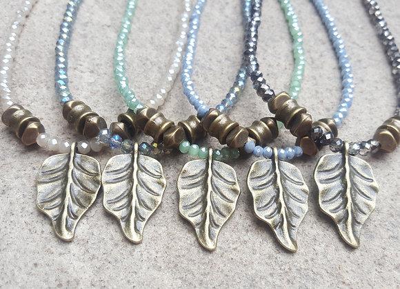 Leaf Crystal Necklace
