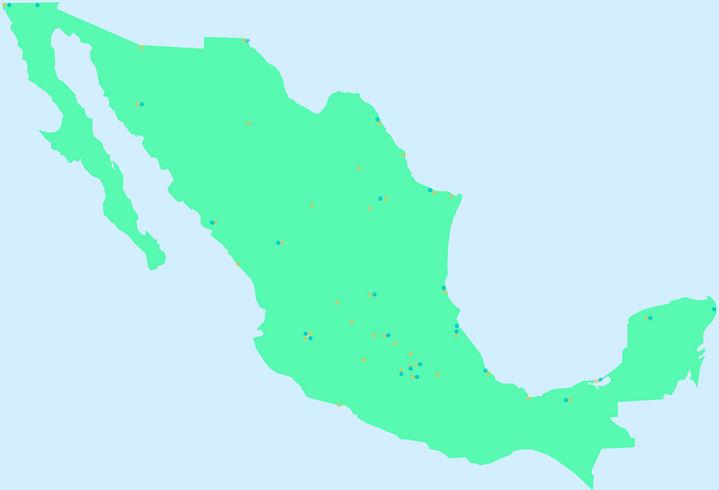 Selecciona un punto en el mapa para hacer contacto en tu región.