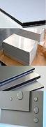 Foto de material compuesto de aluminio fusionado, espesor y características para señales.