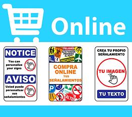 Elije, configura y compra señales y letreros por internet.