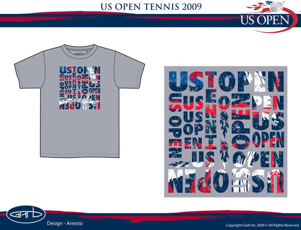 US Open Tennis Boys Tshirt Design