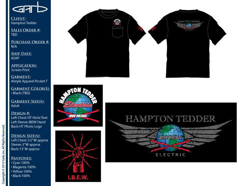 Hampton Tedder Mens Tshirt Design