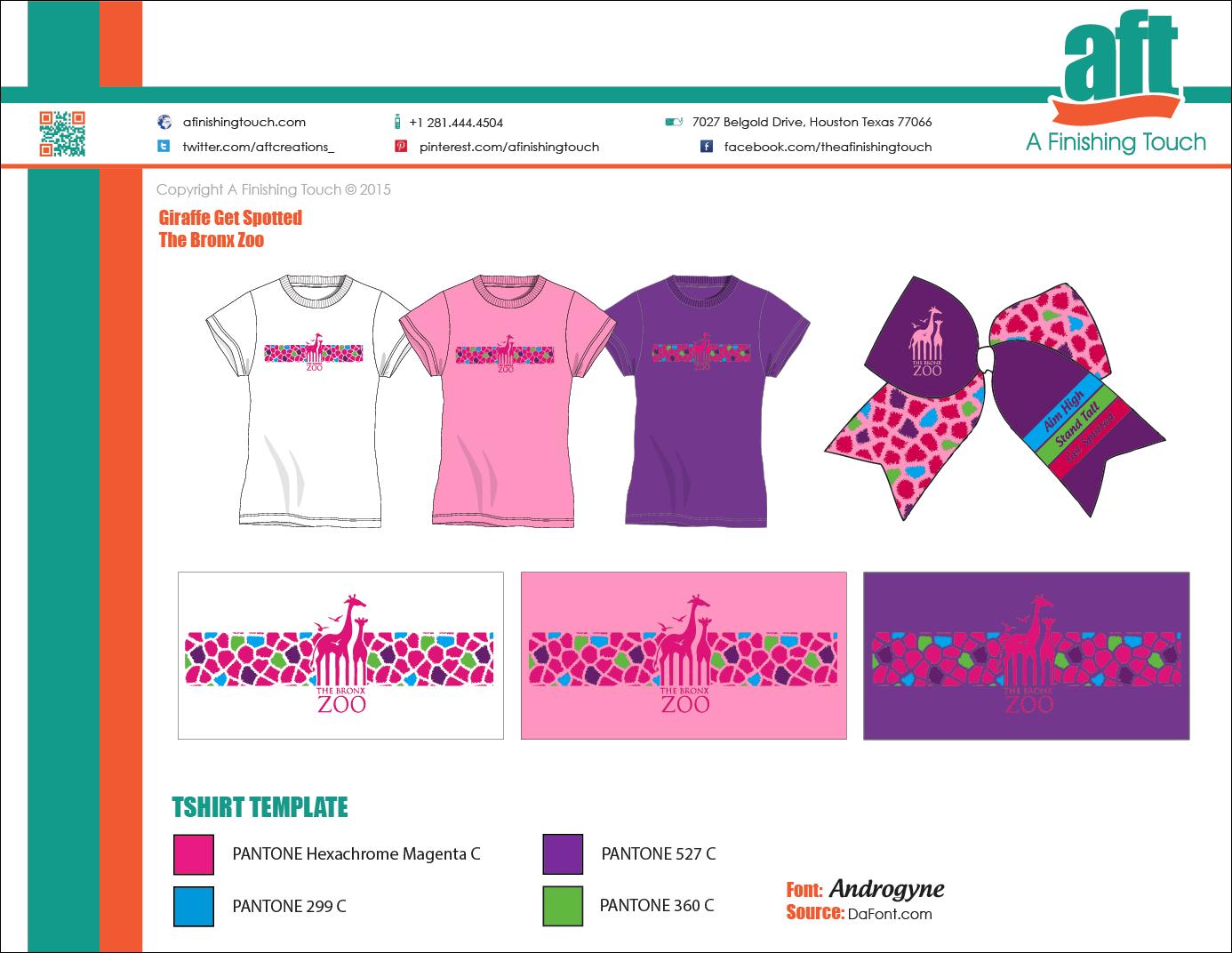 Bronx Zoo Girls Bow & Tshirt Set