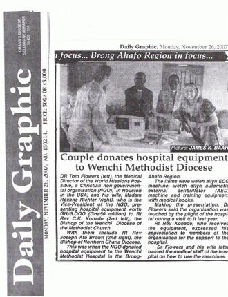 Ghana Medical Mission Serves 700 Patients for FREE