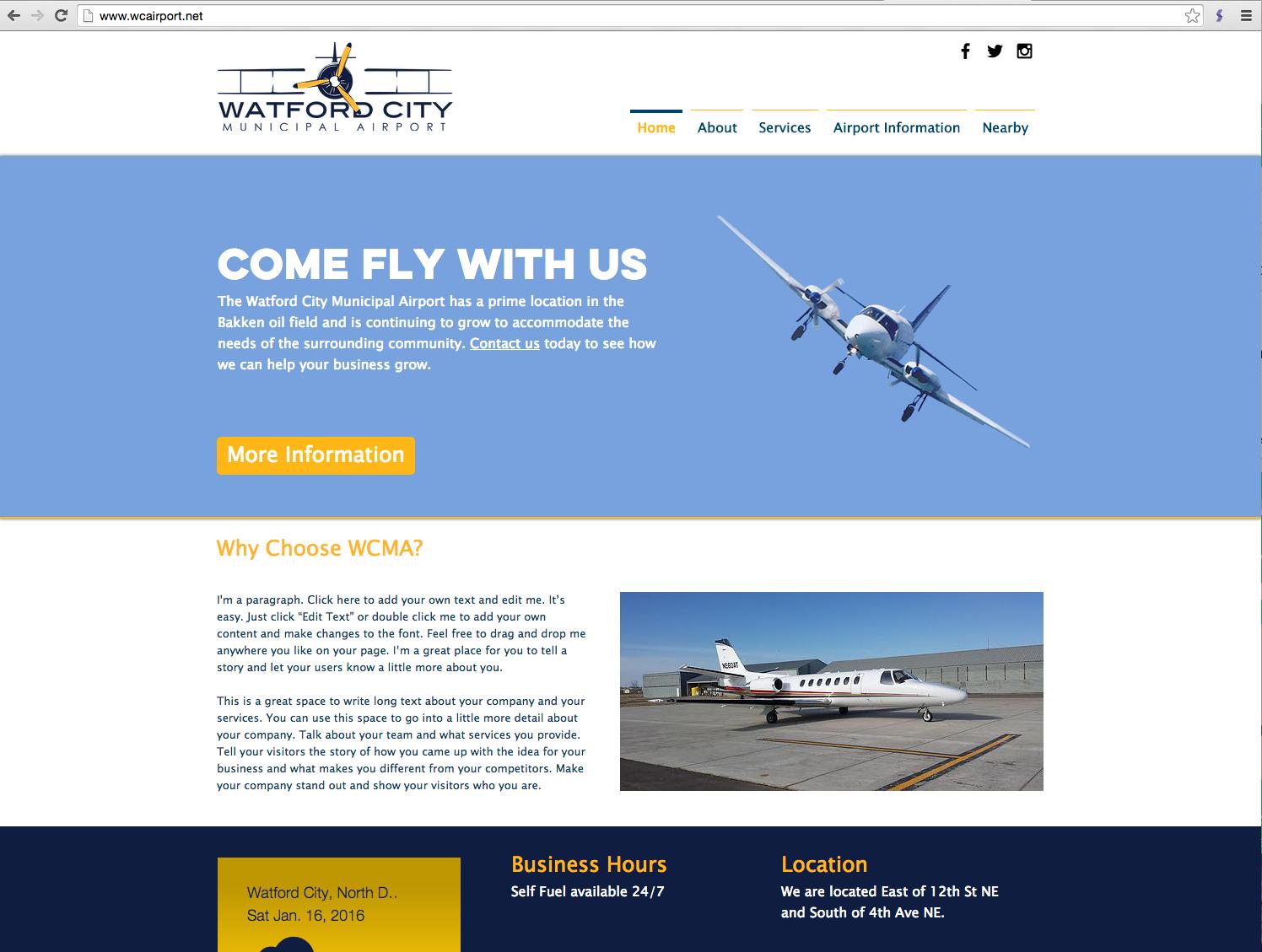 Watford City Municipal Airport Website_BMMD
