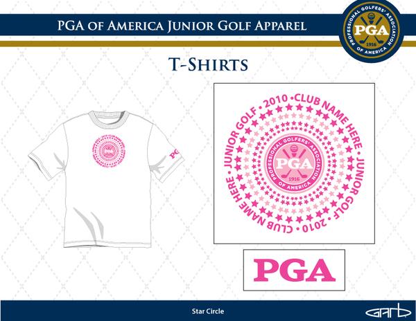 PGA Girls Tshirt Design