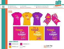 San Diego Zoo Girls Bow & Tshirt Set