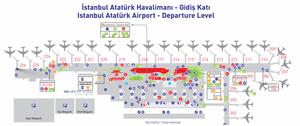 Last minute gate-swap 226 to 208. - Image: Istanbul Ataturk Airport