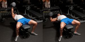 Incline Single-Arm Dumbbell Bench Press