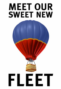 Take a Southwest Airlines hot air balloon. Image from Southwest Airlines.