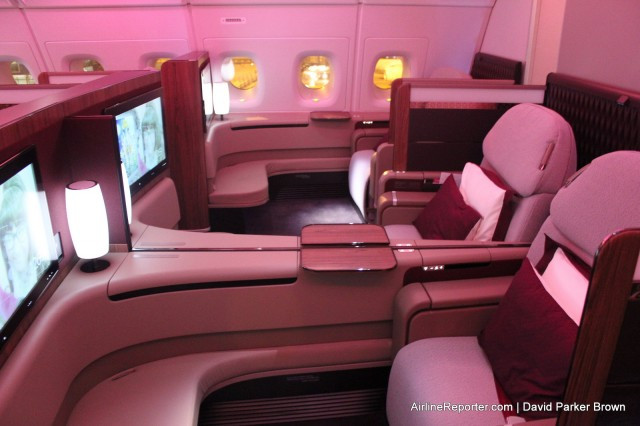 The Qatar First Class product on the A380. For our flight, there were no First Class Passengers