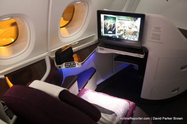 The Business Class product on the Airbus A380 for Qatar Airways