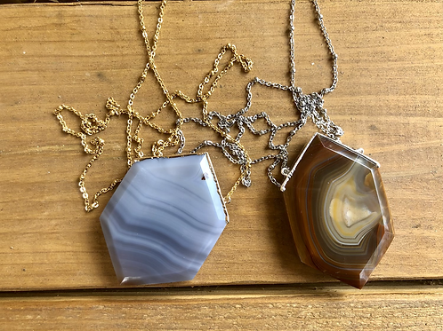 AGATE WILLOW  NECKLACE