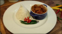 Curry and Chilli Flower Garnish