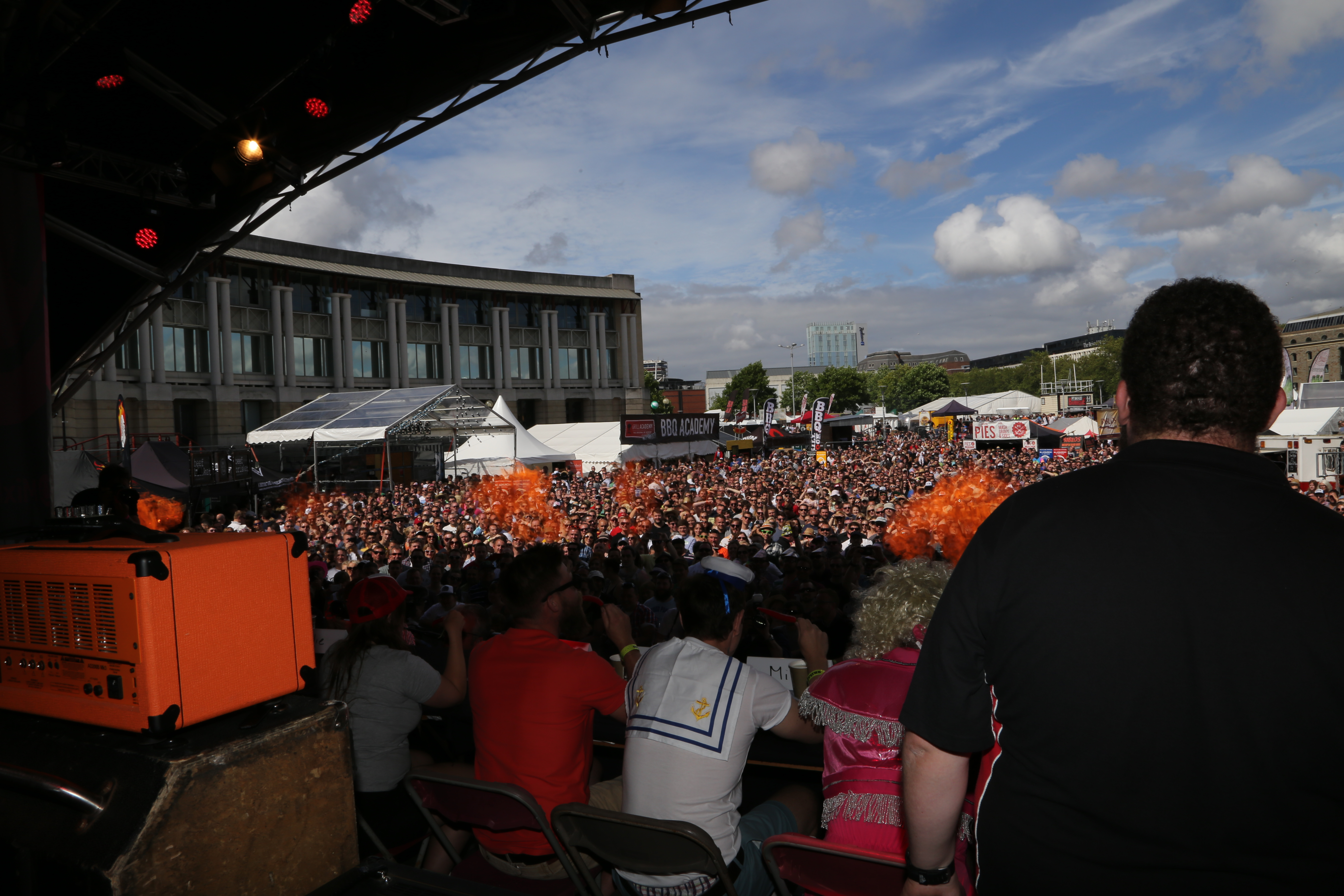 The chilli eating contest crowd