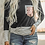 Thumbnail: Sequines Pocket T-Shirt Long Sleeve Women Striped Patchwork Tops Tee Shirts