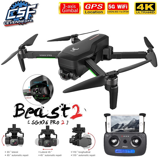 2020 NWE SG906/SG906 Pro 2 Drone 4k HD Mechanical 3-Axis Gimbal Camera 5G Wifi