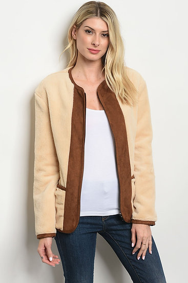 Cream Brown Jacket