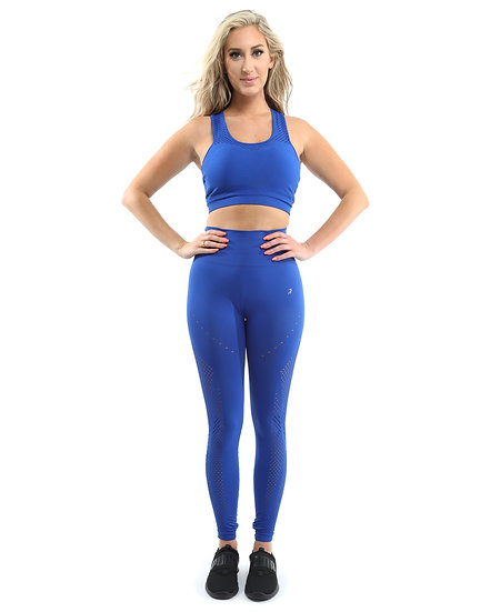 SALE! 50% OFF! Milano Seamless Set -  - Blue [MADE IN ITALY] - Size Small