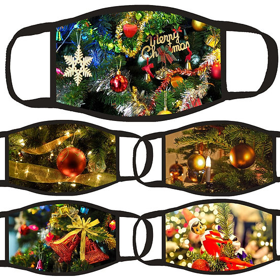Christmas Decorations for Mouth Christmas Tree Bell Printed Christmas Ornaments