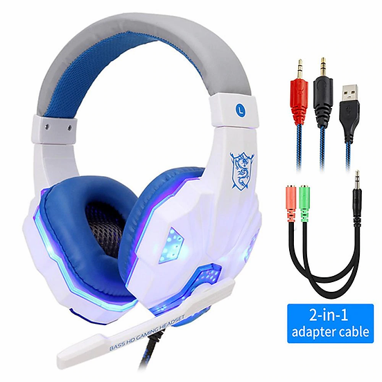Professional Led Light Gamer Headset for Computer PS4 PS5 Fifa 21 Gaming