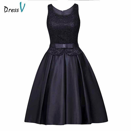 Dressv Scoop Neck Homecoming Dress Cheap a Line Knee Length Cocktail Party Dress