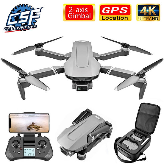 F4 Drone 4k 5G HD Mechanical Gimbal Camera Gps System Supports TF Card Drones