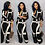 Thumbnail: New Fashion Jumpsuit for Women 2019 Dot Black White Rompers Button Up Self