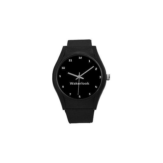 Black Round Wakerlook Watch