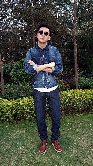 Selvage Dark Blue Jeans