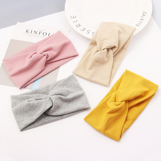 New Fashion Girls Colourful Cotton Knot Headbands Elastic Hairbands Childre