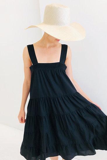 Strap Tiered Tencel Midi Dress