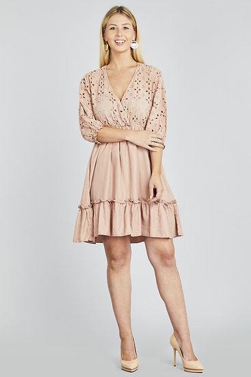 Daisy Lace Ruffle Dress