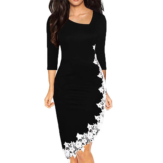 JAYCOSIN Casual Dress Women Elegant Oodji Ladies Summer Irregular Hem Lace Tight