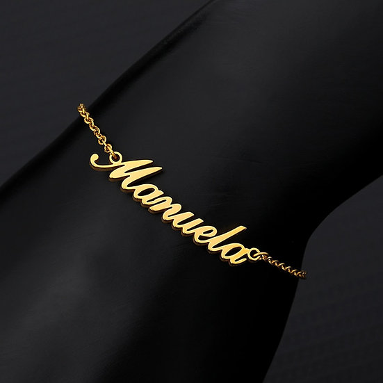 Personalized Custom Name Anklets for Women Gold Silver Color Stainless Steel