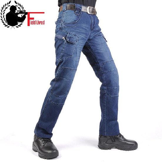 JEANS MEN 2020 Cargo Elastic Waist Jean Pants High Quality Clearance Tactical