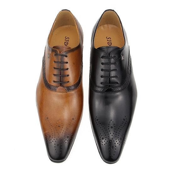 2020 Shoes Men  Wedding Shoes British Style Genuine  Shoes for Lace Up Men Shoe
