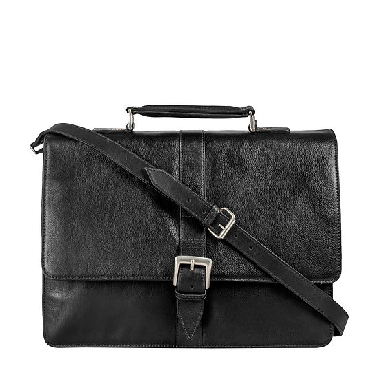Hudson Men's Large Leather Briefcase