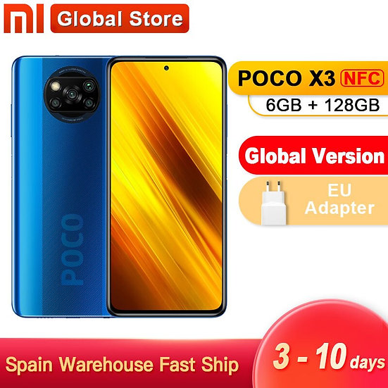 Spain Oversea Global Version Xiaomi POCO X3 NFC 6GB 128GB Smartphone Snapdragon
