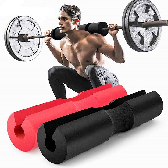 Barbell Pad Pull Up Squat Bar Shoulder Back Protect Pad Grip Support Weight Fitn